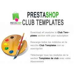 "<p>Download all templates in Club Templates section with your suscription.</p> <p>You can choose the duration of the suscription (3 months, 6 months or 12 months).</p> <p> </p> <p><strong>By purchasing this item, you get a voucher valid only for your account, which allows you to download all the templates in Club Templates section, for the duration of your subscription.</strong></p> <p><strong><strong>You can check the modules included <a href=""http://catalogo-onlinersi.net/en/421-club-templates-prestashop.html"">here </a></strong></strong></p> <p><span><br /></span></p> <p><span>The Renovation of the suscription is 50%</span></p> <p><span><br /></span></p> <p><span><strong>Includes</strong>:</span></p> <ul> <li><span style=""font-size: 11px; line-height: 1.5em;"">Download all templates in club templates category</span></li> <li><span style=""font-size: 11px; line-height: 1.5em;"">Free upgrades during suscription</span></li> <li><span style=""font-size: 11px; line-height: 1.5em;"">Use the templates in 2 domains</span></li> <li><span style=""font-size: 11px; line-height: 1.5em;"">1 new template x month</span></li> <li><span style=""font-size: 11px; line-height: 1.5em;"">Discount of 50% in other templates categories</span></li> <li><span style=""font-size: 11px; line-height: 1.5em;"">Support in prestashop forum</span></li> <li><span style=""font-size: 11px; line-height: 1.5em;""><br /></span></li> </ul> <div><strong>Terms and conditions</strong></div> <div>You cant redistribute or upload the templates to other sites</div> <div>You cant sell the products in other sites</div> <div>After download more than 1 product, you cant get a refound.</div> <div><strong><br /></strong></div>"