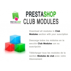 "<p>Download all Modules in Club Modules section with your suscription.</p> <p>You can choose the duration of the suscription (3 months, 6 months or 12 months).</p> <p> </p> <p><strong>By purchasing this item, you get a voucher valid only for your account, which allows you to download all the Modules in Club Modules section, for the duration of your subscription.</strong></p> <p><strong>You can check the modules included <a href=""http://catalogo-onlinersi.net/en/422-club-modules-prestashop.html"">here </a></strong></p> <p><span><br /></span></p> <p><span>The Renovation of the suscription is 50%</span></p> <p><span><br /></span></p> <p><span><strong>Includes</strong>:</span></p> <ul> <li><span style=""font-size: 11px; line-height: 1.5em;"">Download all modules in club modules category</span></li> <li><span style=""font-size: 11px; line-height: 1.5em;"">Free upgrades during suscription</span></li> <li><span style=""font-size: 11px; line-height: 1.5em;"">Use the modules in 2 domains</span></li> <li><span style=""font-size: 11px; line-height: 1.5em;"">1 new module x month</span></li> <li><span style=""font-size: 11px; line-height: 1.5em;"">Discount of 50% in other modules categories</span></li> <li><span style=""font-size: 11px; line-height: 1.5em;"">Support in prestashop forum</span></li> <li><span style=""font-size: 11px; line-height: 1.5em;""><br /></span></li> </ul> <div> <div><strong>Terms and conditions</strong></div> <div>You cant redistribute or upload the modules to other sites</div> <div>You cant sell the modules in other sites</div> <div>After download more than 1 product, you cant get a refound.</div> </div>"