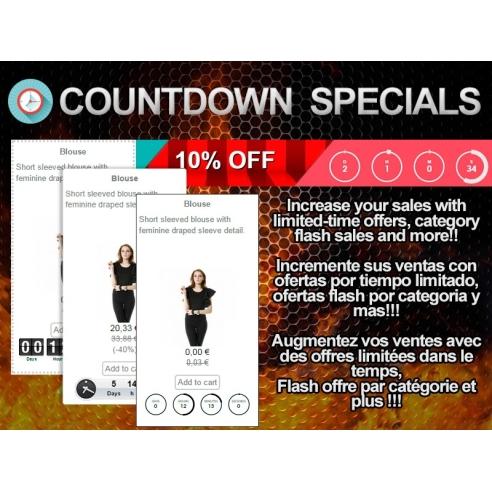 Countdown Specials - Flash sales