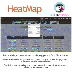 "<p>HeatMap is a module to track the user actions (clicks, scroll, etc) and let you to optimize your conversions. You need an account in mouseflow.com</p> <p>Record website visitors and see website heatmaps showing where they click, scroll and even pay attention.</p> <p>In addition, you can see link analytics with key click, hover, and engagement metrics about each clickable element on a page. This includes anchor-links, buttons, and even erroneous elements.</p> <p>It's easy to improve your navigation and optimize engagement.</p> <p></p> <p><strong>Features</strong>:</p> <ul> <li>Easy to install</li> <li>Cross browser</li> </ul> <p><img src=""http://www.catalogo-onlinersi.com.ar/img/browsers.png"" alt="""" /></p> <ul> <li>Multilingual</li> </ul> <p><img src=""http://www.catalogo-onlinersi.com.ar/img/multilingual.png"" alt="""" /></p> <ul> <li>Multistore</li> </ul> <p><img src=""http://www.catalogo-onlinersi.com.ar/img/multistore.png"" alt="""" /></p> <ul> <li>Responsive</li> </ul> <p><img src=""http://www.catalogo-onlinersi.com.ar/img/responsive.png"" alt="""" width=""450"" height=""110"" /></p> <p>Video:</p> <p><iframe width=""640"" height=""360"" src=""https://www.youtube.com/embed/PoTUY27NvxI?rel=0&showinfo=0"" frameborder=""0"" allowfullscreen=""allowfullscreen""></iframe></p>"