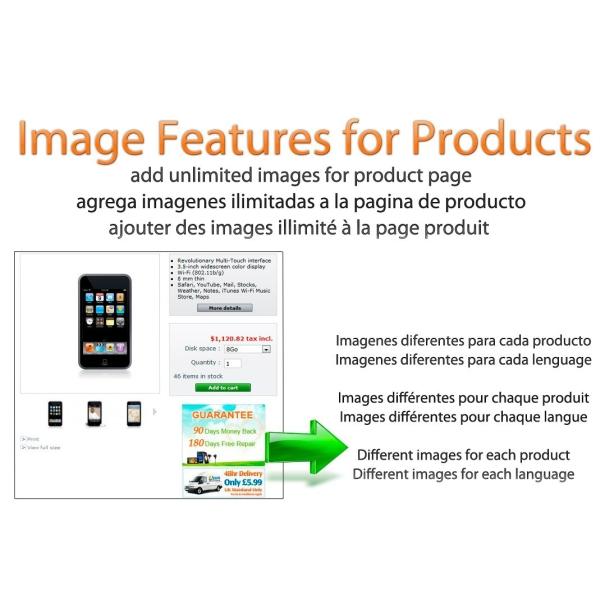 Características de la imagen de productos