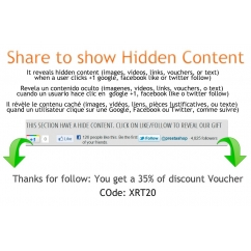 Condividere per mostrare contenuti nascosti