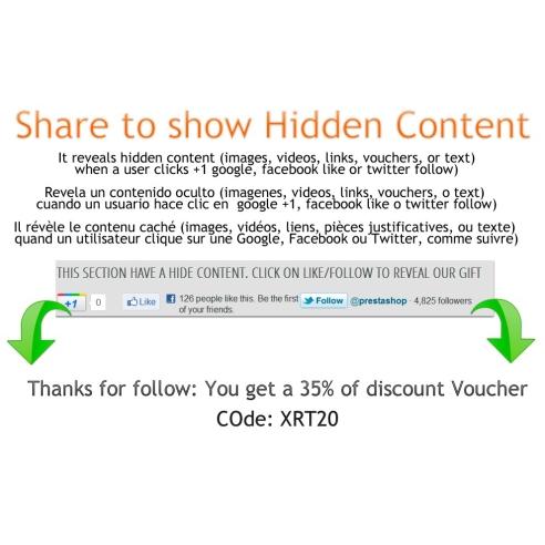 Partager pour montrer le contenu caché