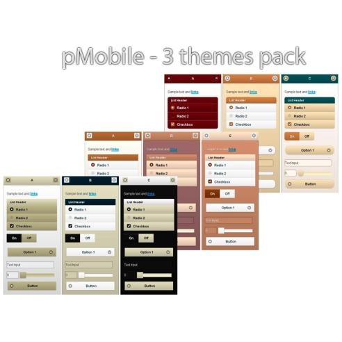 pack de temas de pMobile 3 - Brown