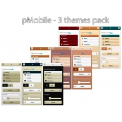 pMobile 3 thèmes pack - Brown