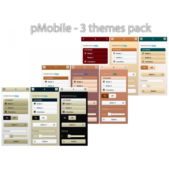 pack de temas de pMobile 3 - Brown