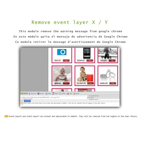 Remove Layer x/y error message