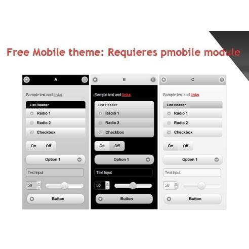 Free mobile theme for Pmobile