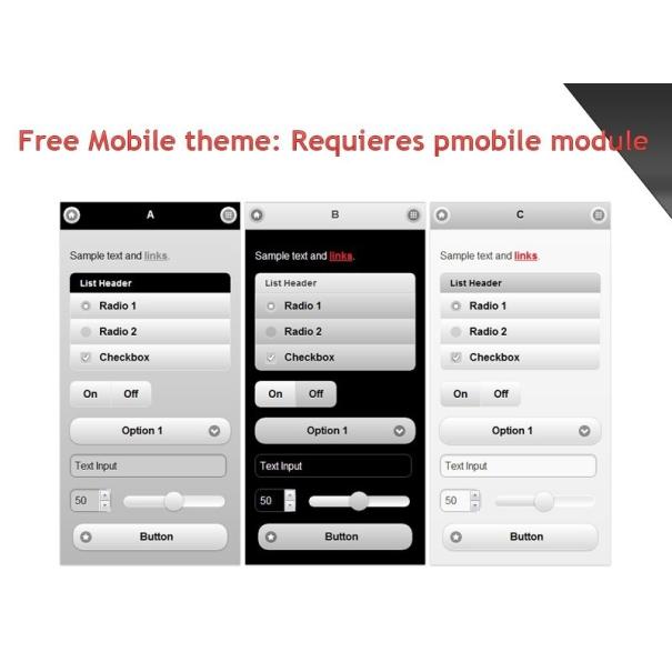 Pmobile 的免费手机主题