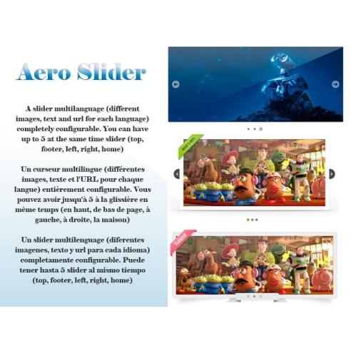 Aero Slider prestashop slider