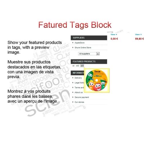 Etiquetas destacados del bloque