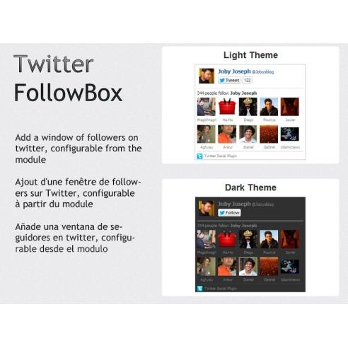 Twitter follow box