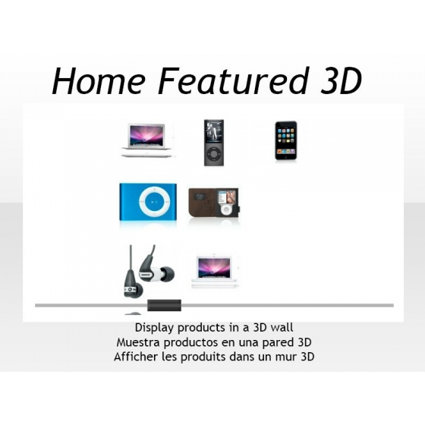 Accueil fonctionnalités 3D de Flash