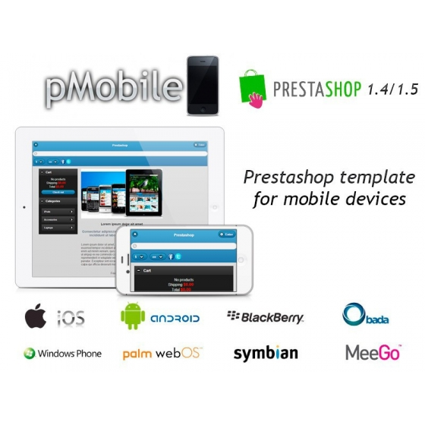 pMobile - Prestashop template for mobile devices