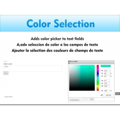 Color selection for text fields