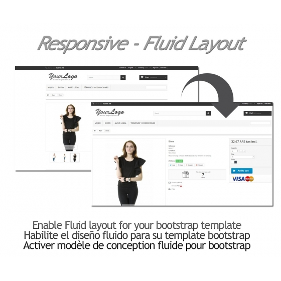 Reagierend - Fluid Layout - Prestashop Modul