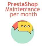 PrestaShop mainteniance per month