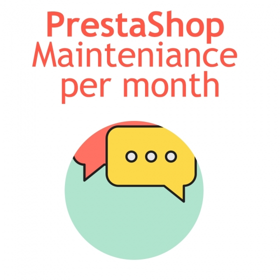 PrestaShop mainteniance per month