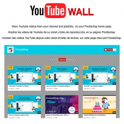 Youtube wall prestashop