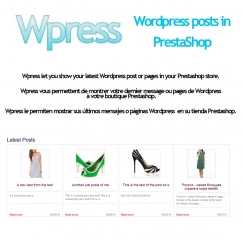 Wpress - Wordpress posts in PrestaShop