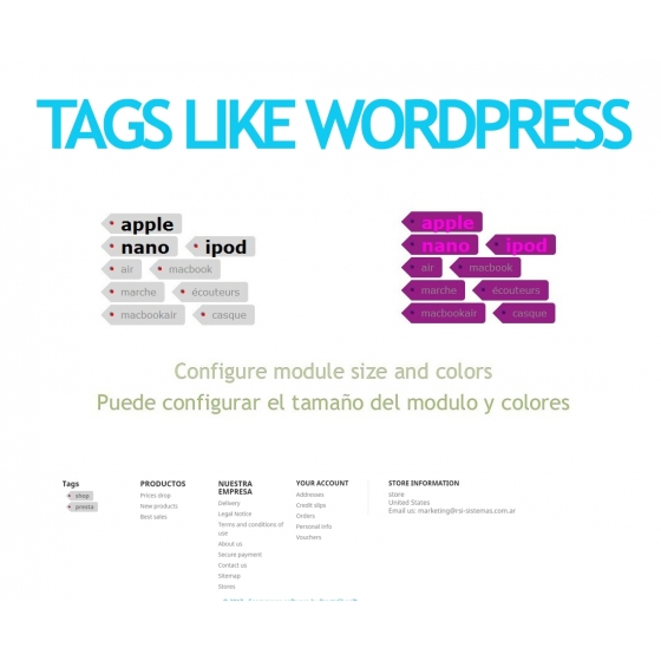 Balises telles que Wordpress