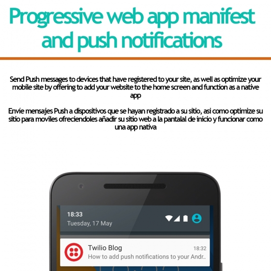 Progressive web app and push notifications