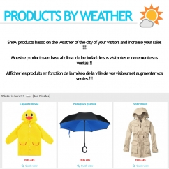 Products by weather Module