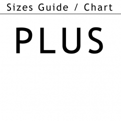 Sizes chart/guide plus