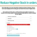 Reduce negative Stock in orders