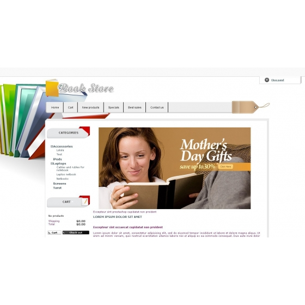 Buku Store - editor tema dan template