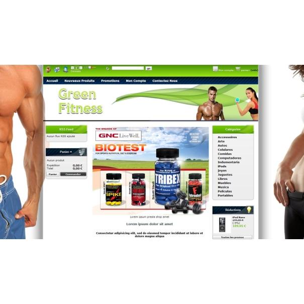 Zelený Musculart Fitness