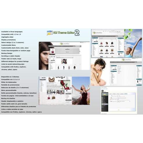 Kosmetik dan tema EDITOR 2.0