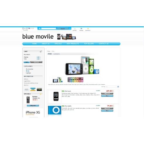 Синий movile
