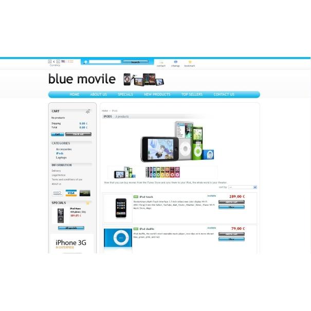蓝色 movile