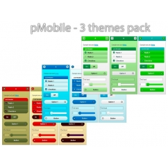 pMobile 3 themes pack - Colored