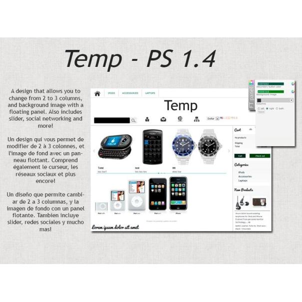 Temp - prestashop template