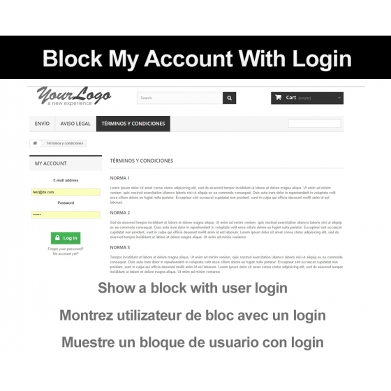Block my account with login