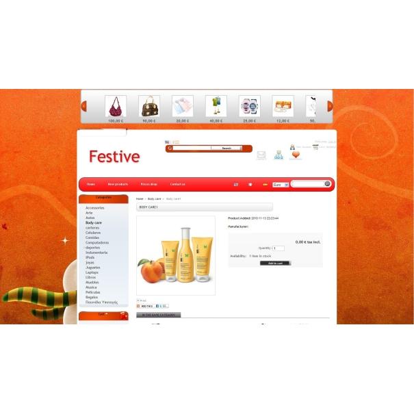 Festive and THEME EDITOR 2.0